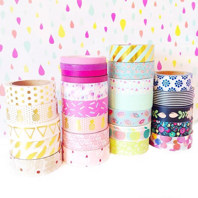 My collection of @washigang washi tapes! What's your favourite? If you have a @washigang stash tag me so I can see ❤️. Happy Saturday!