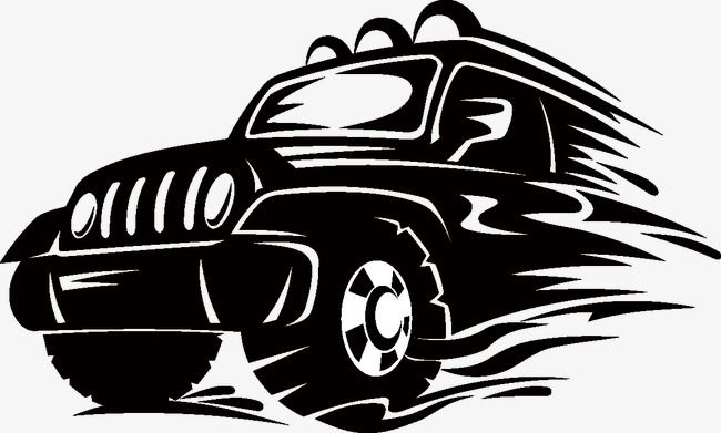 Creative Suv Advertising Illustrator Vector Material Jeep Icon