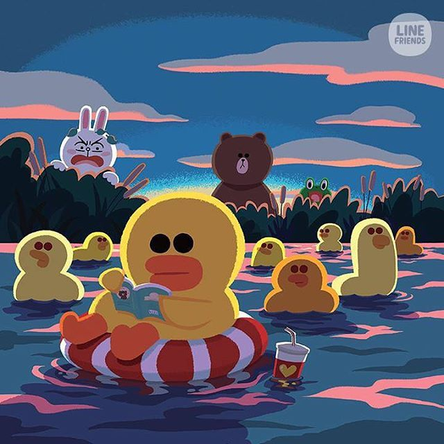 Chick or Duck ?! The answer is...... #SALLY #CANNOTswim #LINEFRIENDS