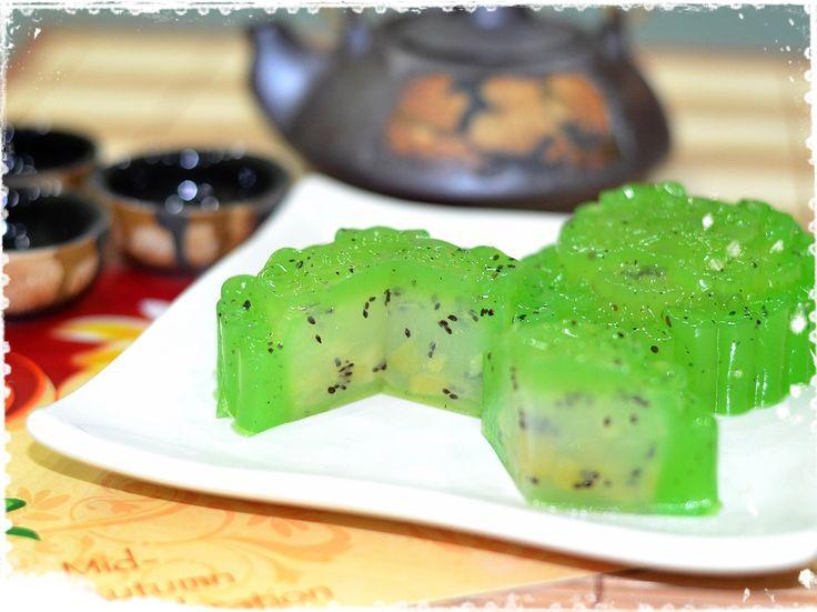 Kiwi Fruit Jelly Mooncake