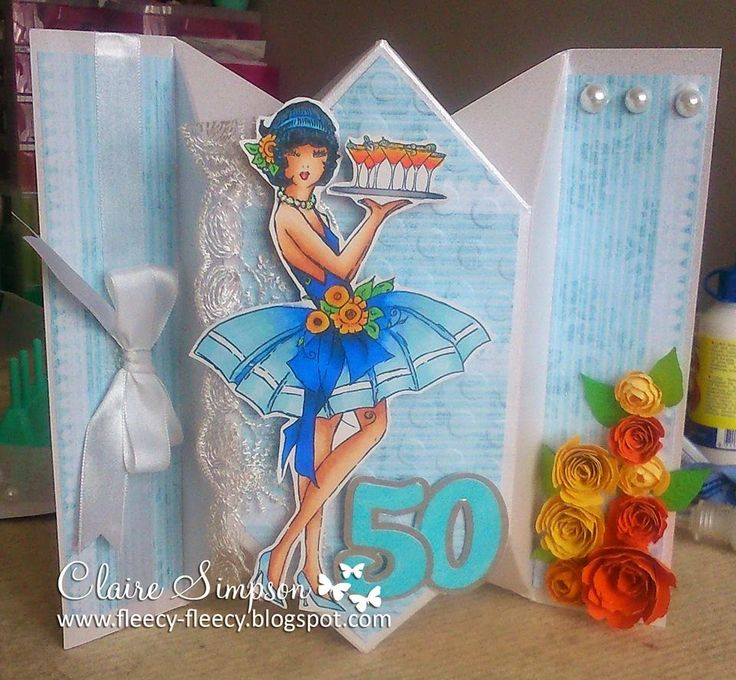 Clairebears x: Claire's Fancy Fold Card Template