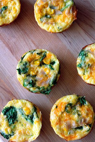 Trade your morning muffin for a protein packed mini frittata that you can make ahead of time. | 7 Very Easy Ways To Eat Healthier This Week