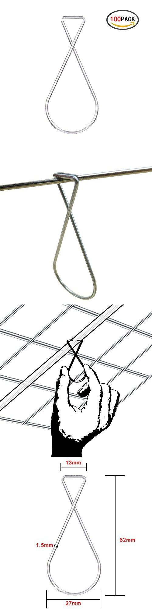 YourGift 100 Pack Ceiling Hook Clips for Home Decorations, Wedding Decorations, Office, Classroom