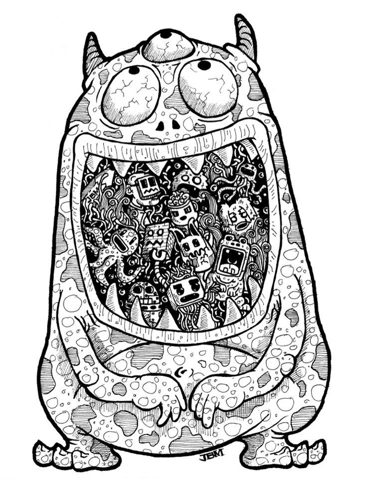 110 best doodle arts collection volume 1 images on for Doodle art monster
