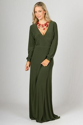 Catalina Maxi Dress - Olive by Paper Scissors Frock