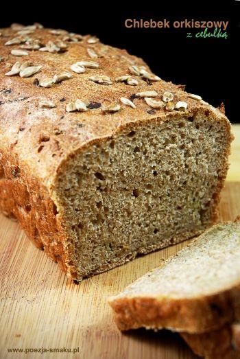 Orkiszowy chleb z cebulką / Spelled bread with onion (recipe in Polish)