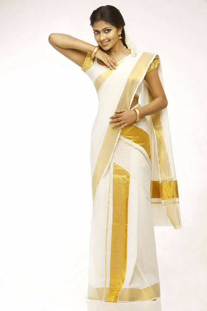 Amala Paul in Kerala Saree, India. I can't wait to wear this for my friend's wedding!