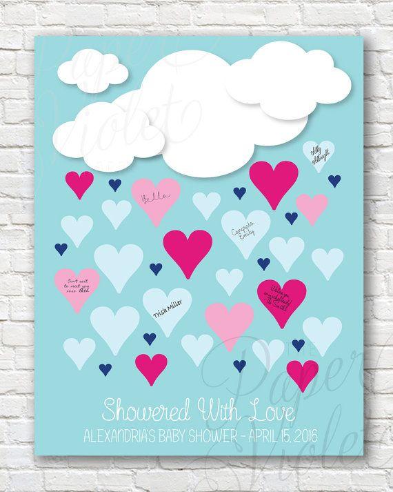 Digital Guest Book Alternative For Baby Shower! { Showered With Love    Guestbook Alternative }