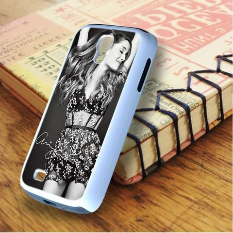 Ariana Grande Signature Black And White Samsung Galaxy S4 Case