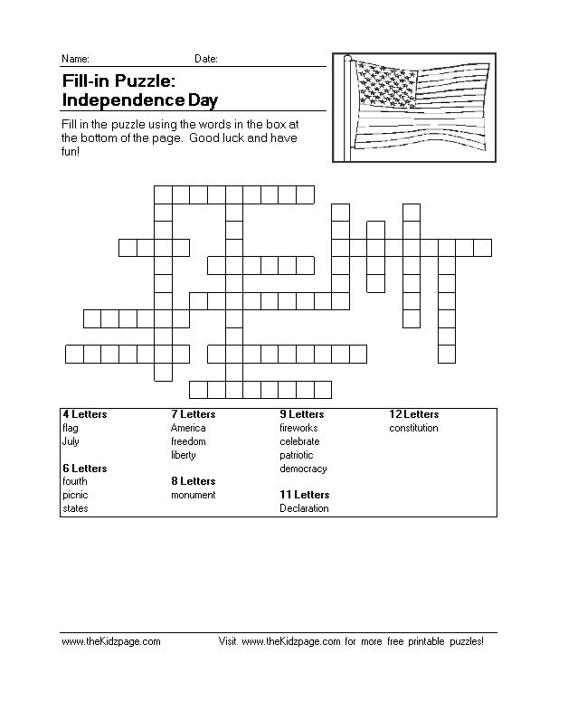 Free Printable Fill in Puzzels | ... Free Online Toys Free Jigsaw Puzzles Freeware for Kids Printable