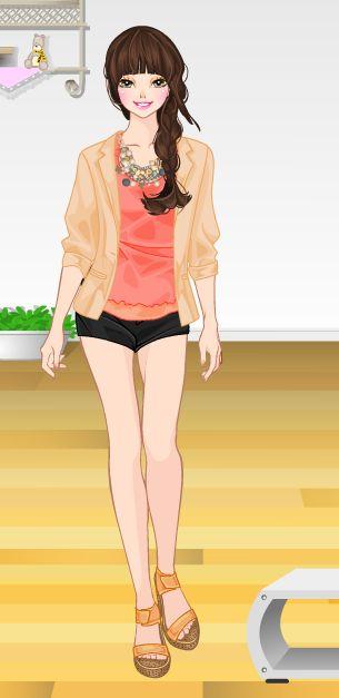 Online dress-up games -  Orange
