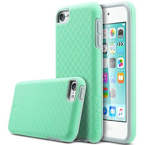 APPLE iPod Touch 6 Case,APPLE iPod Touch 5 Case,ULAK Slim-Protection SLICK ARMOR Hybrid Dual Layer Shockproof Hard Case Cover for Apple iPod Touch 6 5th Generation (Mint Green+Grey) ULAK http://www.amazon.com/dp/B015GW4LO2/ref=cm_sw_r_pi_dp_Aiuewb1C33P4H