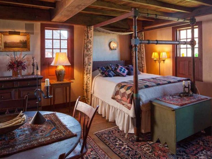 210 Best Colonial Primitive Bedrooms Images On Pinterest