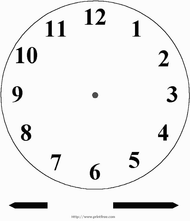 Blank clock face for little ones to practice telling time - -add a brass prong and your clock 'spins'