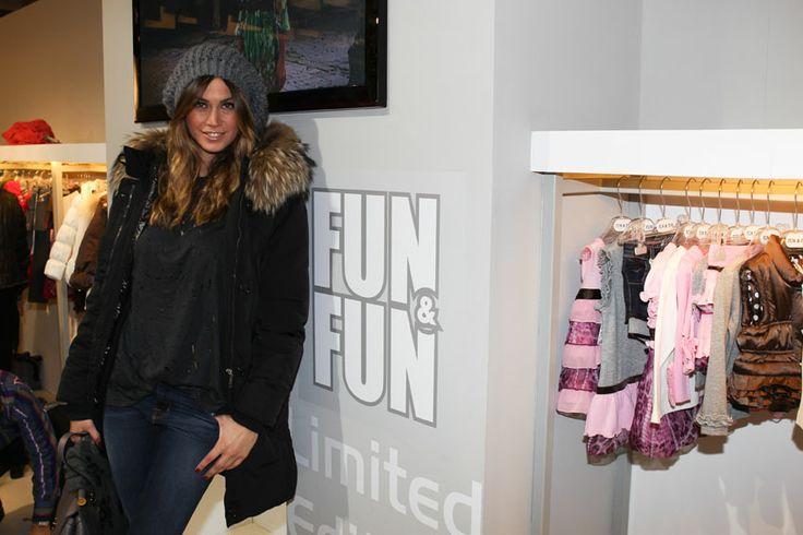 Melissa Satta nel nostro stand Fun&Fun al Pitti Bimbo di Firenze