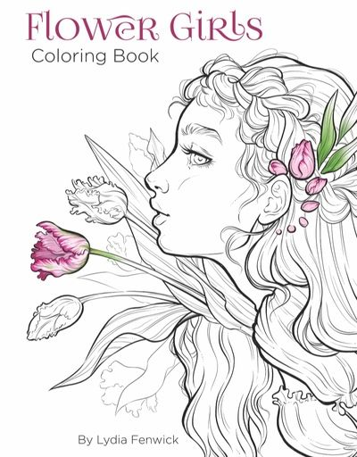 Flower Girls Digital Coloring Book Preorder Faces Coloring