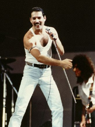 Freddy Mercury. Live Aid 1985, I was watching it with all my friends