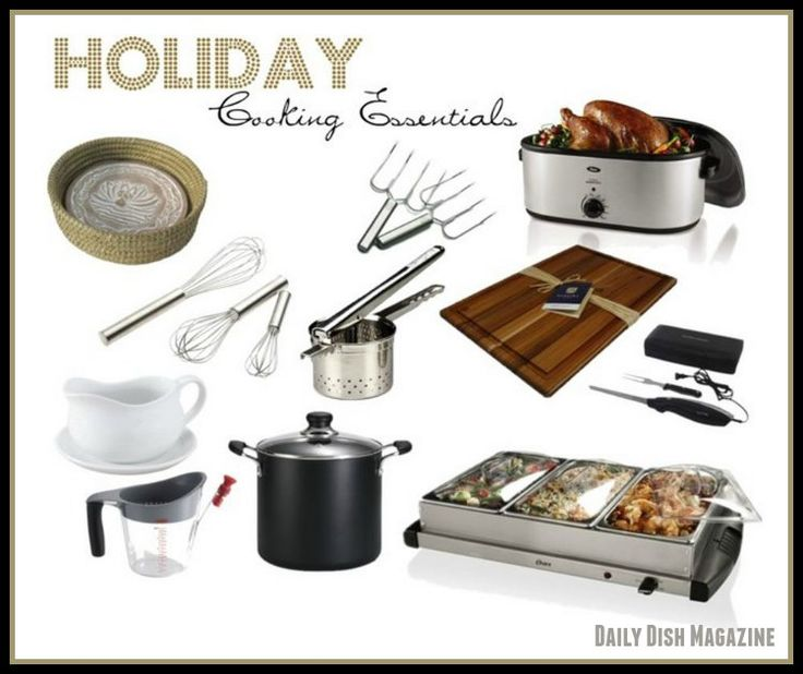 Holiday Cooking Essentials from Daily Dish Magazine.
