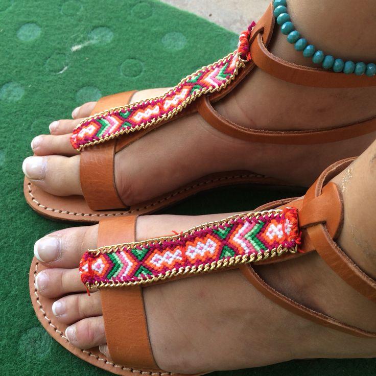 Sandals handmade by Oly Joly!