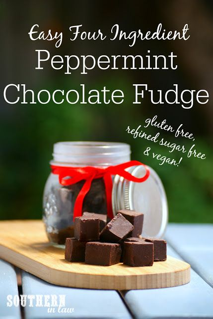 Mint Chocolate Fudge (GF & Vegan!) | Mint chocolate, Peppermint fudge ...