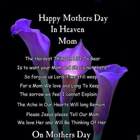 life inspiration quotes: Happy Mother's Day to Moms in Heaven Inspirational Quote