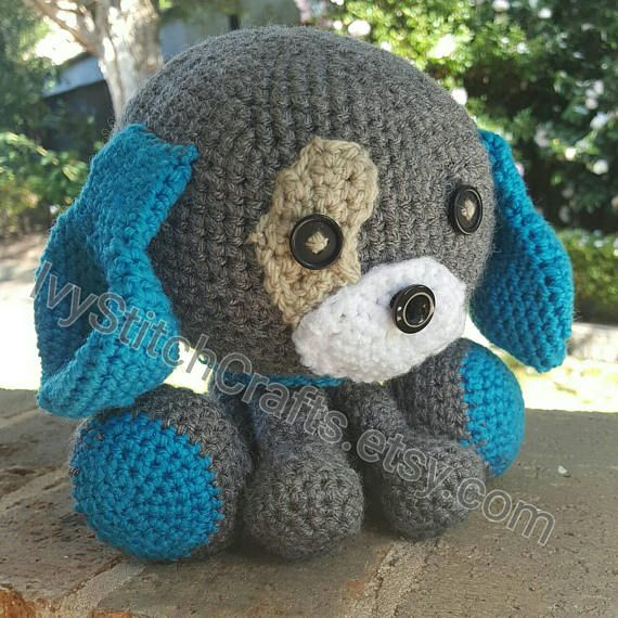 Custom crochet dog plush. Your choice of colours. Domino the dog