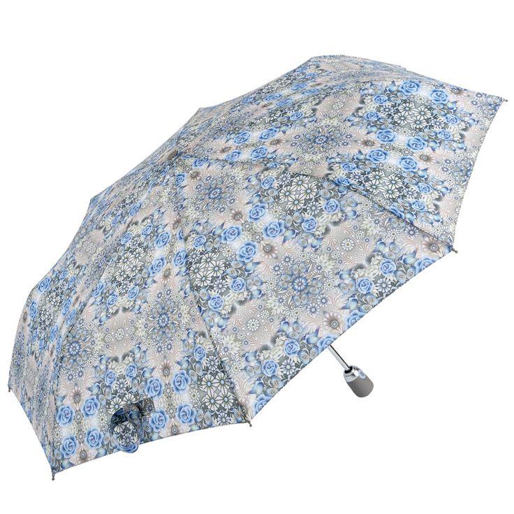 Catalina Estrada Secret Garden Umbrella with elegant greys and blues.