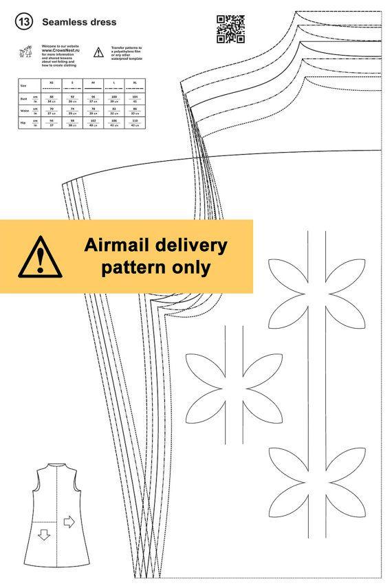 Dhg.13 / Seamless dress / Wet felting pattern by LybaV on Etsy