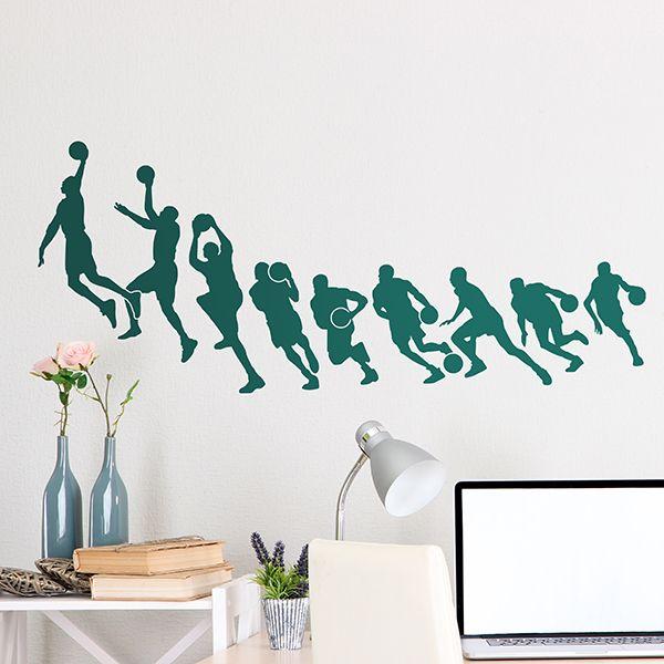 Vinilos Decorativos: Baloncesto Michael Jordan siluetas