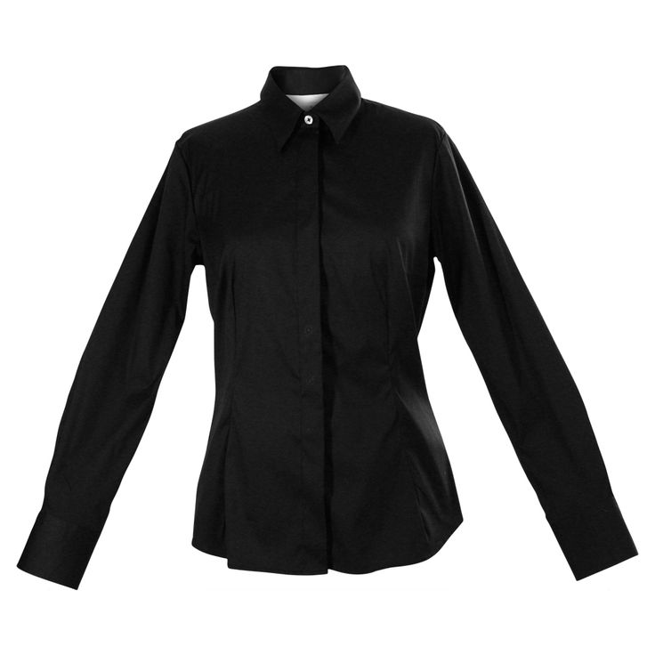 Our basic black work shirt takes all the guesswork out of suited dressing. High-quality European cotton features a hint of stretch for the perfect fit. Nonfading dye and flattering seams show off your shape and your savvy. Stylishly long cuffs are a subtle touch that keeps your look pulled together, even with the sleeves pushed up. http://www.byariane.com.au/Louka-Stretch