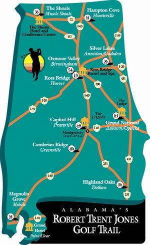 The Robert Trent Jones Golf Trail - Alabama: The Robert Trent Jones Golf Trail - Alabama