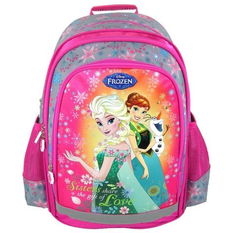Ledové království - Školní batoh na záda s reflexními prvky