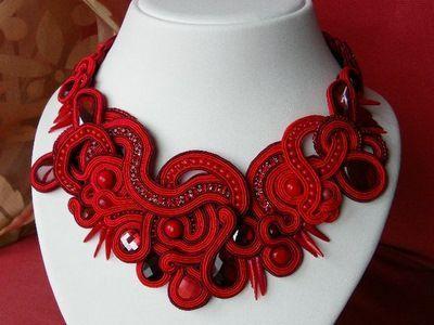 Lara Egaree - Carmen necklace - soutache braid