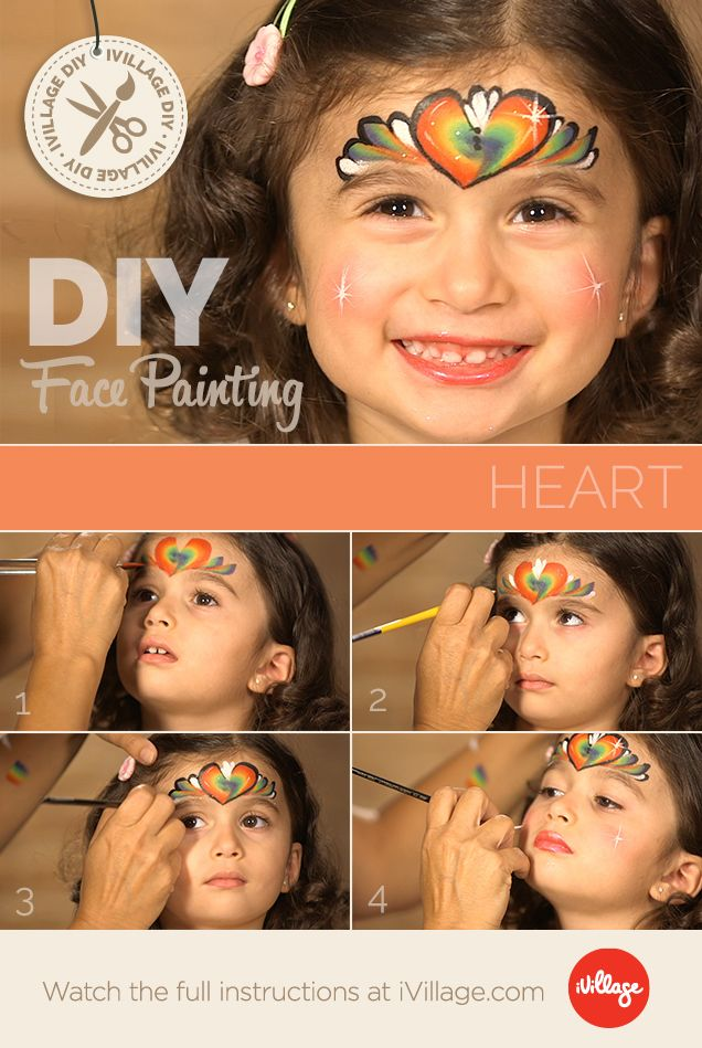 We Love This Look! How To Do Heart Face Paint for Kids! http://www.ivillage.com/we-love-look-how-do-heart-face-paint-kids/6-h-548336