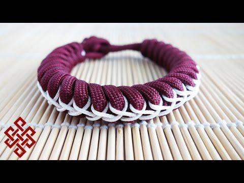Stitched Snake Knot Paracord Bracelet Tutorial - YouTube