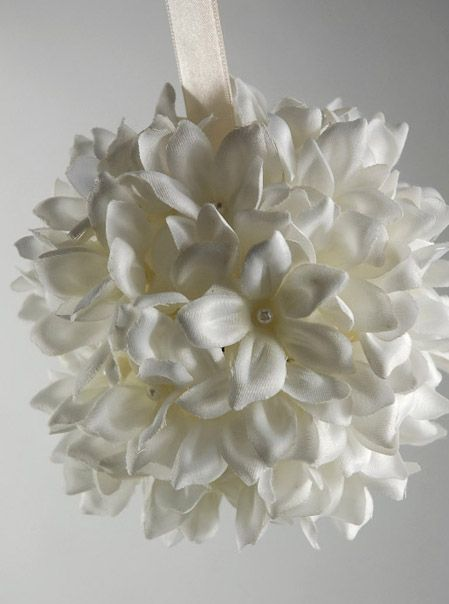 Pom Poms & Flower Ball Decorations Elegant- #wedding #mybigday