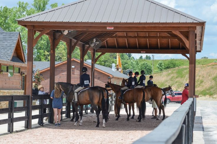 Shelter for,horses and riders at Tryon International Equestrian Centre