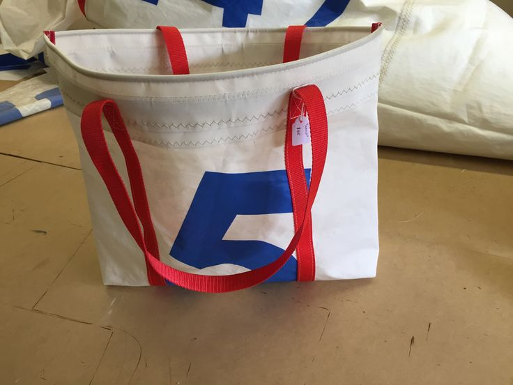 Tote bag with sail number