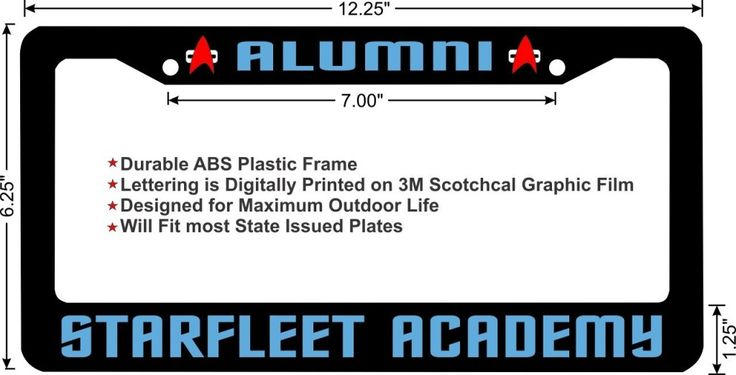 Star-Trek-Glasses-And-Fan-Gear-Starfleet-Academy-Alumni-license-plate-frame