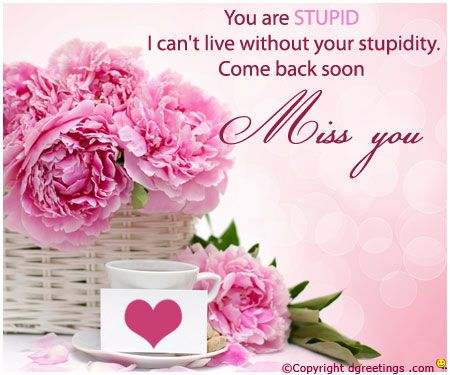 Dgreetings - Miss You Card. | Miss You Cards | Pinterest
