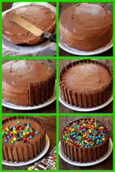 Kitkat M&M taart makkelijk om te maken en super lekker!