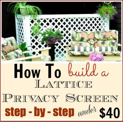 how to make a folding screen using lattice