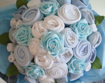 Hand-Made Baby Girl Bouquet Made with Real by AvaGraceDesignsUK
