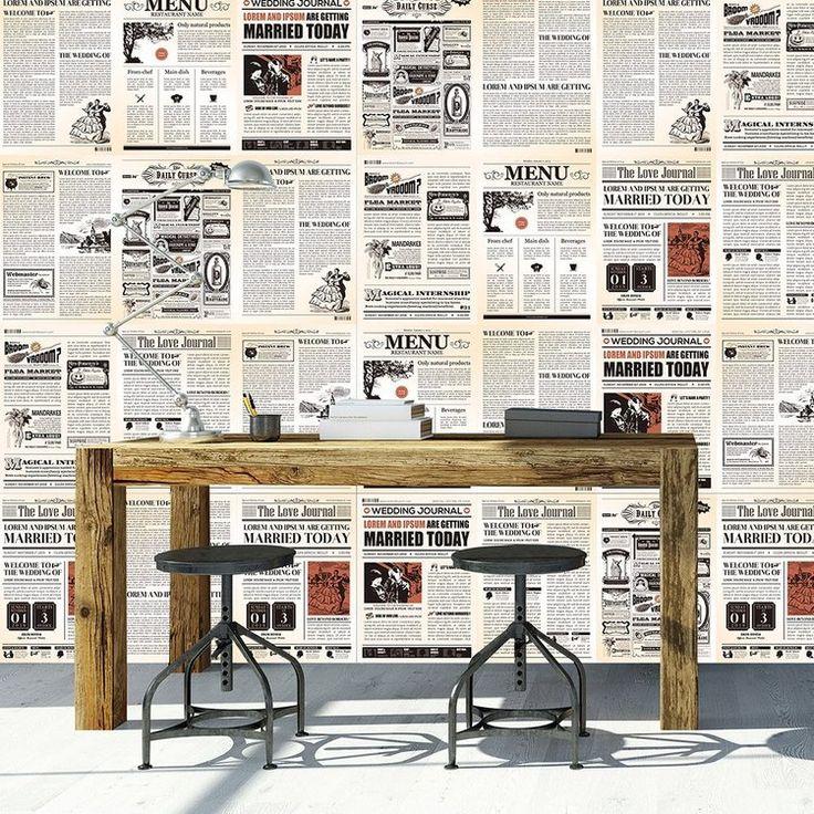 Best 25+ Newspaper wallpaper ideas on Pinterest