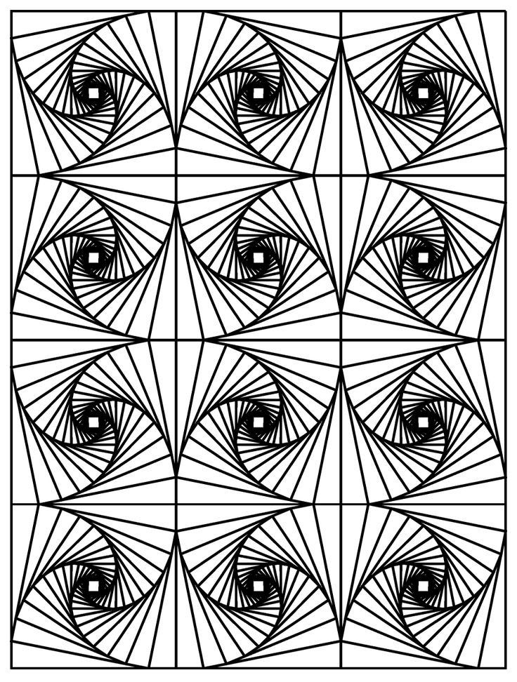 Galerie de coloriages gratuits coloriage-op-art-illusion-optique-3. Coloriage Opt Art / Illusion Optique
