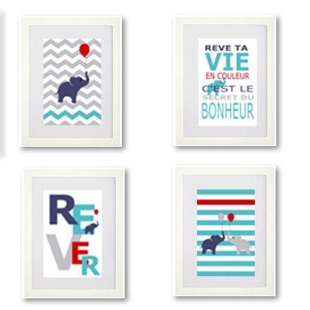1000 images about affiche et illustrations pour chambres - Chambre d enfant bleu ...