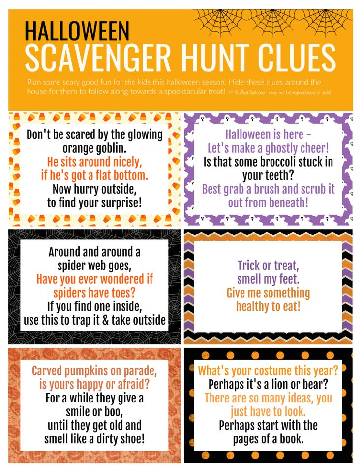 Halloween Scavenger Hunt How to Plan a Surprise for Your