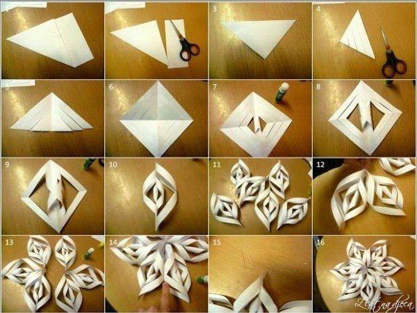 flocons de neige en papier blanc et de forme originale