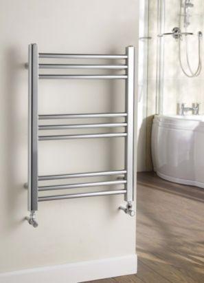 Kudox Timeless Designer Towel Radiator Chrome (H)700 x (W)500mm, 5060069429728