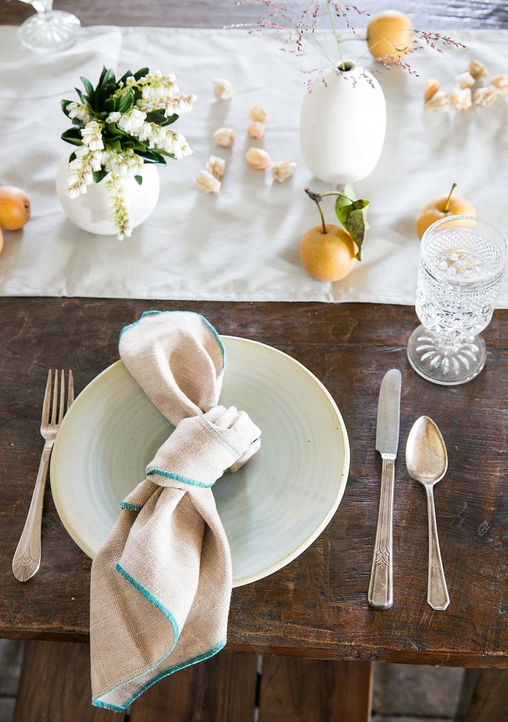 No Need To Get Carried Away With A Complicated Napkin Fold
